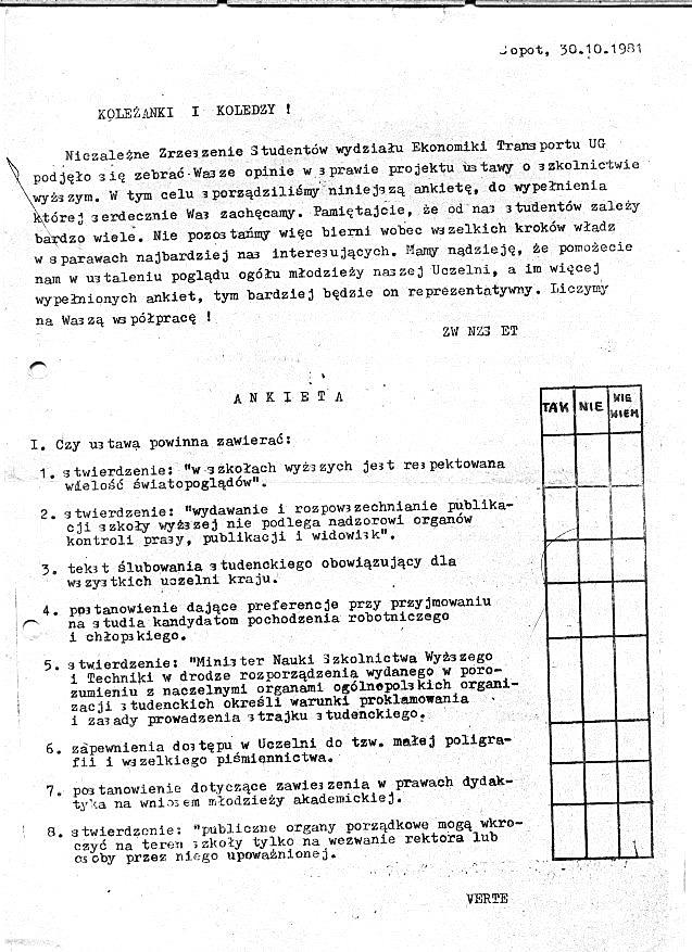 Ankieta NZS UG - 1