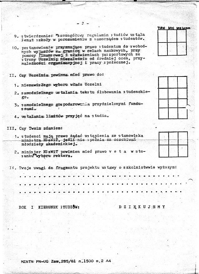 Ankieta NZS UG - 2