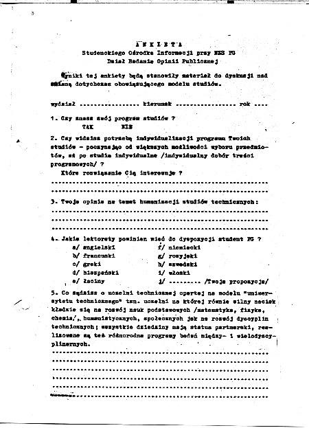 Ankieta SOI - 1